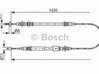 Cablu frana mana OPEL TIGRA TwinTop BOSCH 1987482140