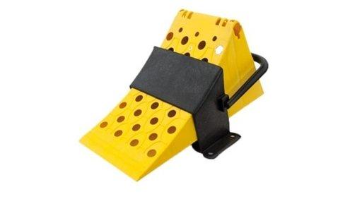Cala blocare roata din plastic si suport CALA100