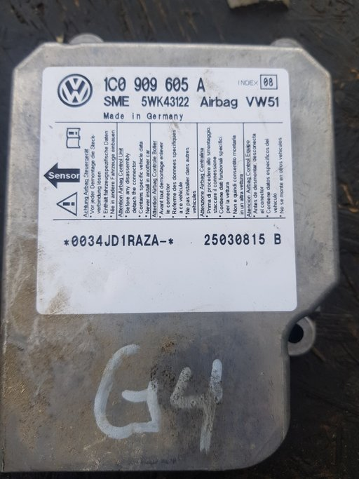 Calculator airbag VW Golf 4/Passat/Jetta 1C0909605