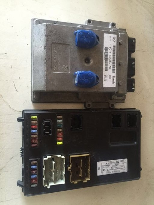 Calculator motor ford transit tdci 2007 kit pornire 6c11-12a650-ah 9dch dcu 101