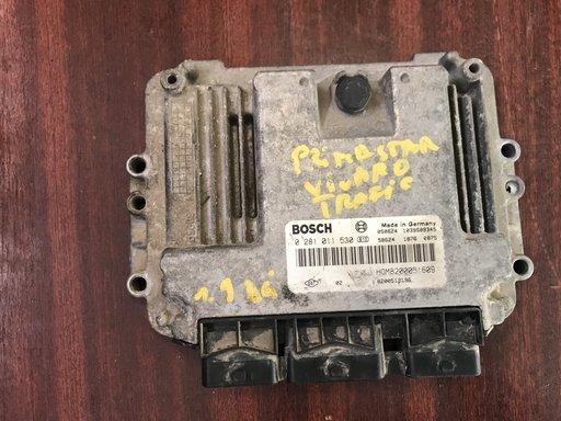 Calculator motor Renault Trafic/Opel Vivaro/ Nissan Primastar 1.9 dci 0281011530
