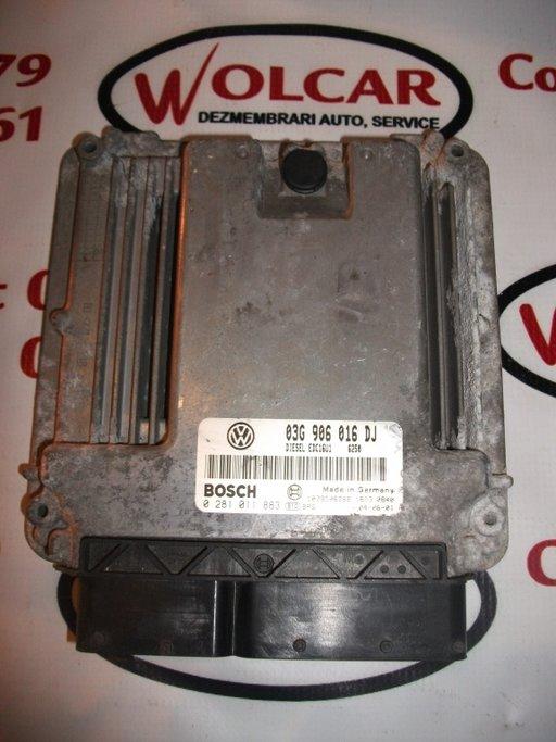 Calculator motor Skoda Octavia 2 1.9 Tdi, BJB, 03g906016DJ, 0281011883