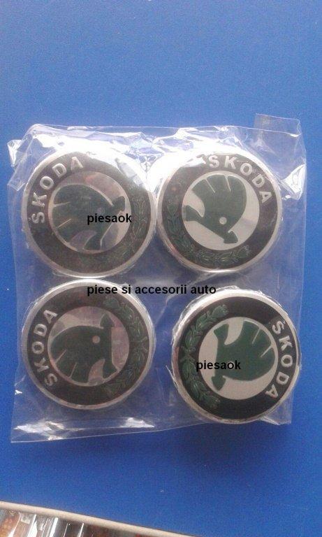 Capacele capace pentru jante de aliaj Skoda 60mm