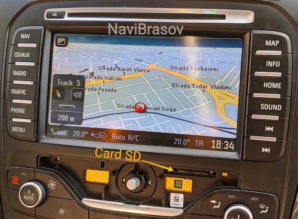 Card Sd Harta Navigatie Ford Mca Mondeo Kuga S Max Romania 2019