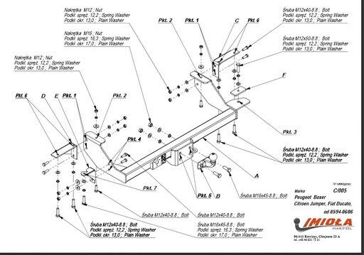 Carlig Remorcare Fiat Ducato 94-2006 (marca Hakpol)