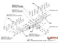Carlig Remorcare MERCEDES SPRINTER 3,55/4025 duba fara scara (Hakpol)