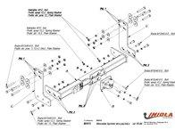 Carlig Remorcare MERCEDES SPRINTER platforma 1995-2006 (Hakpol)
