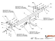 Carlig Remorcare Nissan X-Trail (T30) 2001-2007 Hakpol