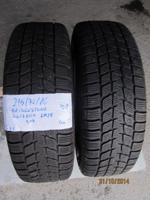 Cauciucuri iarna Bridgestone Blizzak LM25 - 215/70/16