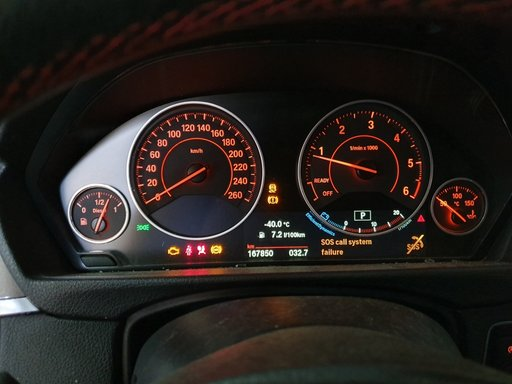Ceasuri bord BMW seria 1 seria 3 seria 4 F20 F30 F32 F34 F36 europa
