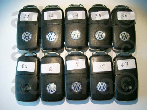 Cheie originala 3 butoane VW Seat Skoda 1J0959753DA/AH 1K0959753G