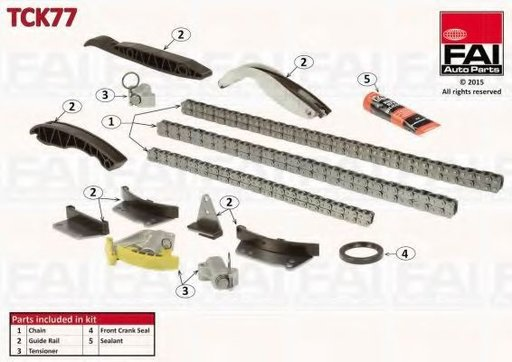 Chit lant de distributie KIA SORENTO I (JC) (2002 - 2009) FAI AutoParts TCK77 - piesa NOUA