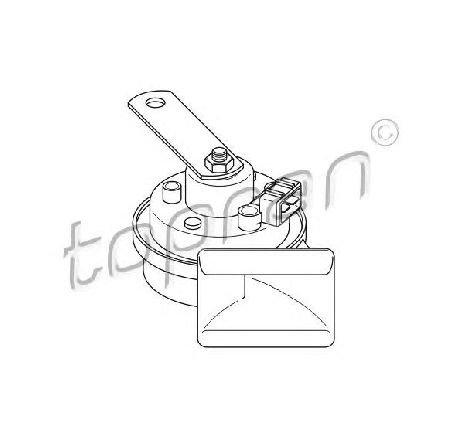 Claxon SEAT ALHAMBRA ( 7V8, 7V9 ) 04/1996 - 03/2010 - producator TOPRAN 102 956 - 301564 - Piesa Noua