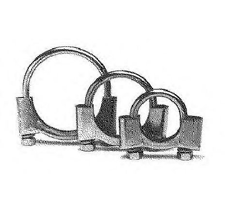 Colier, sistem de esapament FORD MONDEO III COMBI ( BWY ) 10/2000 - 03/2007 - piesa NOUA - producator BOSAL 250-260 - 304726