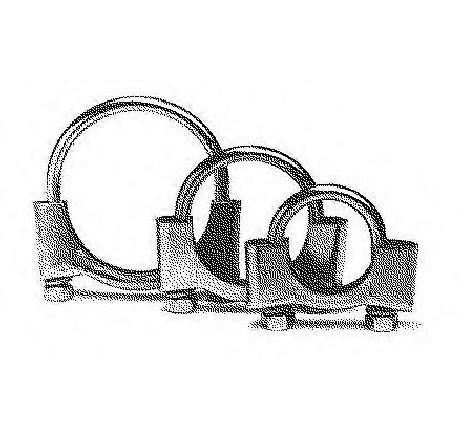 Colier, sistem de esapament RENAULT LOGAN I COMBI ( KS ) 04/2007 - 2019 - piesa NOUA - producator BOSAL 250-250 - 307364