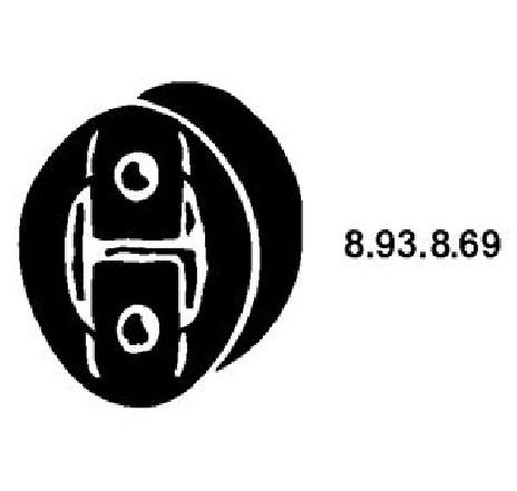 Colier, toba esapament FIAT SCUDO CAROSERIE ( 220L ) 02/1996 - 12/2006 - piesa NOUA - producator EBERSPÄCHER 8.93.8.69 - 304016