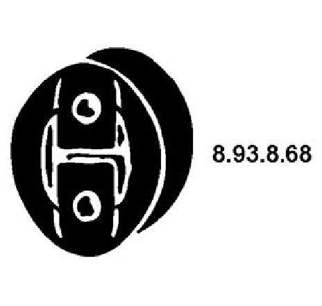 Colier, toba esapament FIAT SCUDO CAROSERIE ( 220L ) 02/1996 - 12/2006 - piesa NOUA - producator EBERSPÄCHER 8.93.8.68 - 304016