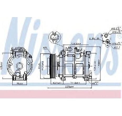 Compresor, climatizare CHRYSLER VOYAGER IV ( RG, RS ) 09/1999 - 12/2008 - producator NISSENS 89074 - 300874 - Piesa Noua