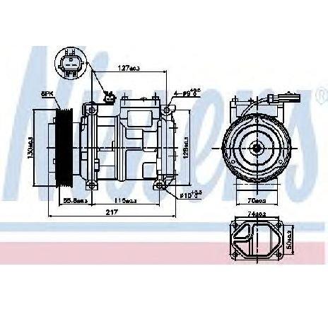 Compresor, climatizare CHRYSLER VOYAGER IV ( RG, RS ) 09/1999 - 12/2008 - producator NISSENS 89097 - 300874 - Piesa Noua