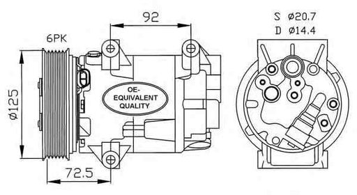 Compresor climatizare RENAULT MEGANE II Coupe-Cabr