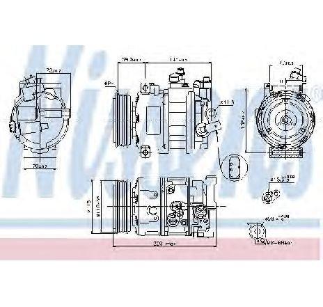 Compresor, climatizare VW BEETLE CABRIOLET ( 5C7 ) 12/2011 - 2019 - producator NISSENS 89211 - 310735 - Piesa Noua