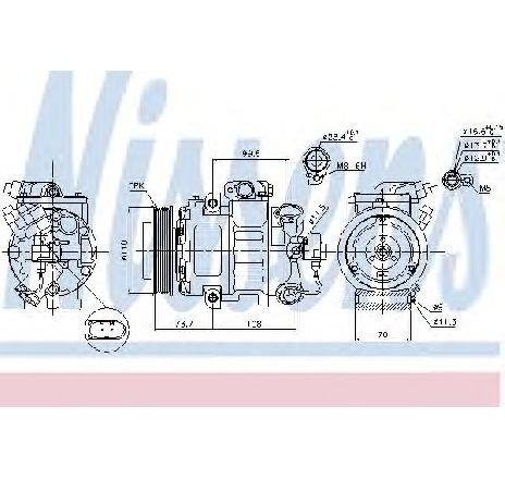 Compresor, climatizare VW GOLF VI VARIANT ( AJ5 ) 07/2009 - 07/2013 - producator NISSENS 89026 - 308442 - Piesa Noua