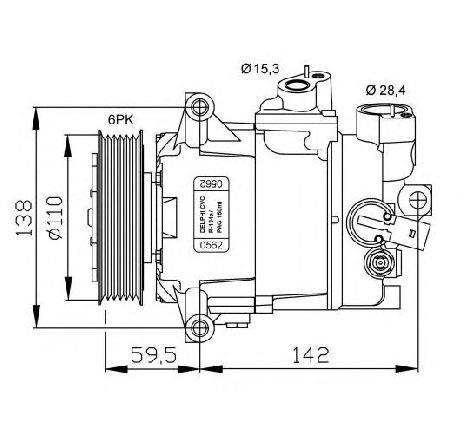 Compresor, climatizare VW NEW BEETLE CABRIOLET ( 1Y7 ) 09/2002 - 10/2010 - producator NRF 32500G - 304957 - Piesa Noua