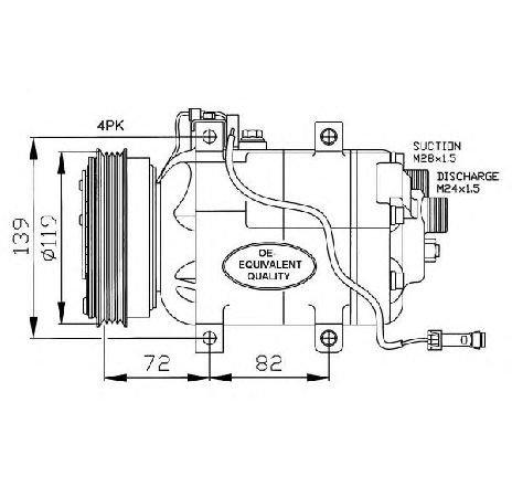 Compresor, climatizare VW PASSAT Variant (3B5) 1.6 06/1997 - 11/2000 - producator NRF cod produs 32030