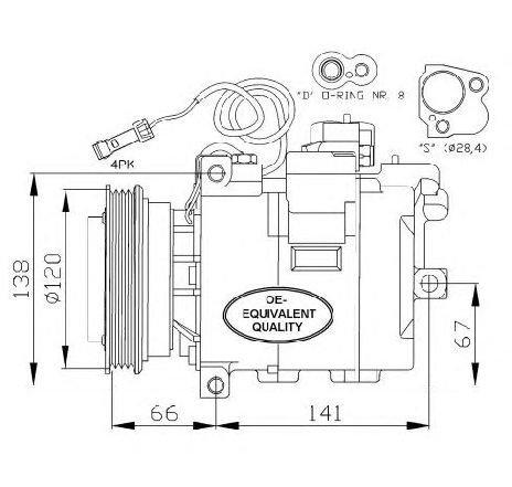 Compresor, climatizare VW PASSAT Variant (3B5) 1.6 06/1997 - 11/2000 - producator NRF cod produs 32104