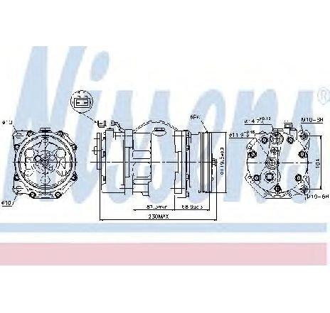 Compresor, climatizare VW SHARAN (7M8, 7M9, 7M6) 2.8 VR6 Syncro 11/1996 - 04/2000 - producator NISSENS cod produs 89040