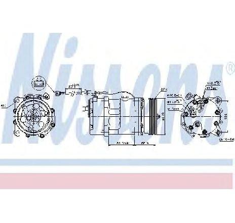 Compresor, climatizare VW SHARAN (7M8, 7M9, 7M6) 2.8 VR6 Syncro 11/1996 - 04/2000 - producator NISSENS cod produs 89224