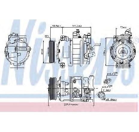 Compresor, climatizare VW TIGUAN ( US ) 02/2016 - 2019 - producator NISSENS 89020 - 336223 - Piesa Noua