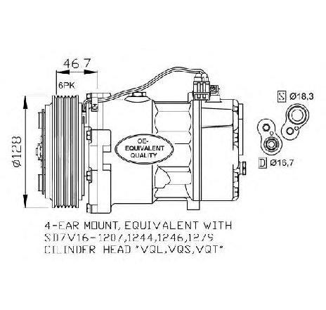 Compresor, climatizare VW TRANSPORTER IV platou / sasiu (70XD) VW TRANSPORTER T4 platou / sasiu (70XD) 2.5 08/1996 - 04/2003 - producator NRF cod produs 32168