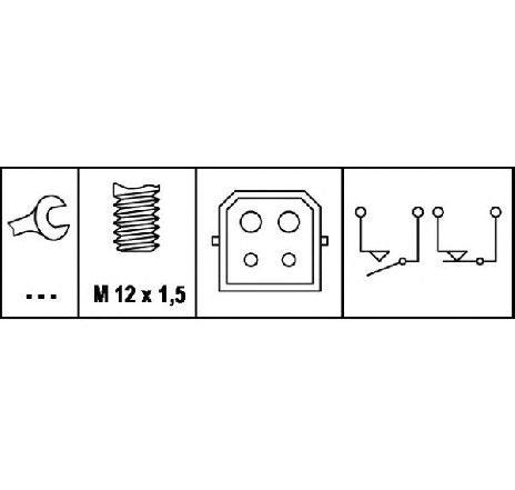 Comutator lumini frana AUDI A6 (4A, C4) S6 Plus quattro 04/1996 - 10/1997 - producator HELLA cod produs 6DD 008 622-351