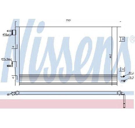 Condensator, climatizare CHRYSLER SEBRING ( JR ) 09/2000 - 06/2007 - producator NISSENS 94556 - 304730 - Piesa Noua