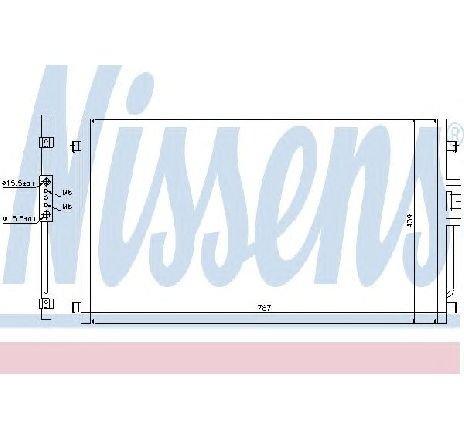 Condensator, climatizare CHRYSLER VOYAGER IV ( RG, RS ) 09/1999 - 12/2008 - producator NISSENS 94557 - 300874 - Piesa Noua