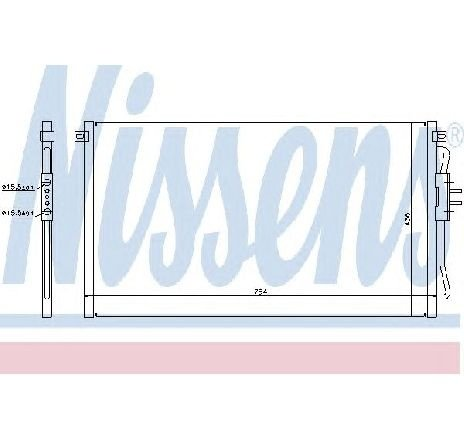 Condensator, climatizare CHRYSLER VOYAGER IV ( RG, RS ) 09/1999 - 12/2008 - producator NISSENS 94716 - 300874 - Piesa Noua