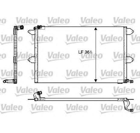 Condensator, climatizare VW CADDY II COMBI ( 9K9B ) 11/1995 - 01/2004 - producator VALEO 816908 - 305393 - Piesa Noua