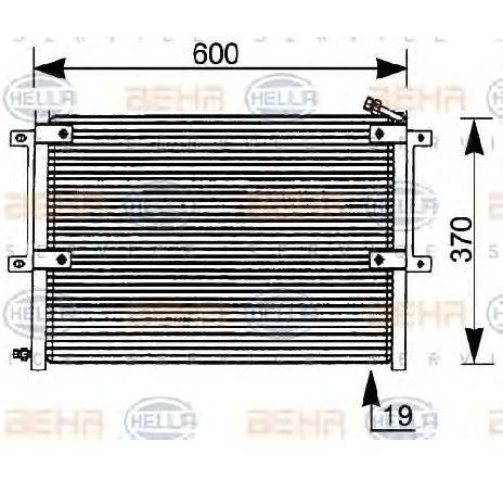 Condensator, climatizare VW CADDY II COMBI ( 9K9B ) 11/1995 - 01/2004 - producator HELLA 8FC 351 036-061 - 305393 - Piesa Noua