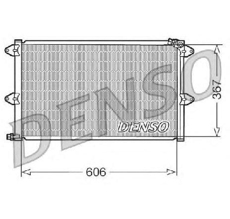 Condensator, climatizare VW CADDY II COMBI ( 9K9B ) 11/1995 - 01/2004 - producator DENSO DCN27001 - 305393 - Piesa Noua