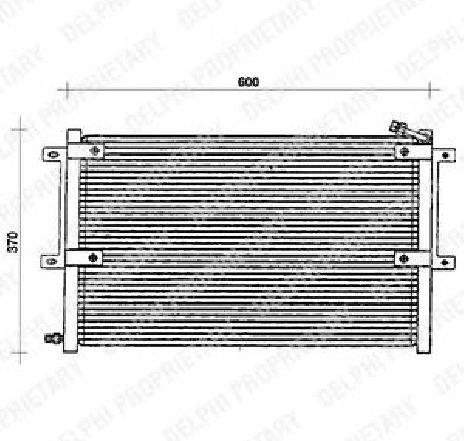 Condensator, climatizare VW CADDY II COMBI ( 9K9B ) 11/1995 - 01/2004 - producator DELPHI TSP0225100 - 305393 - Piesa Noua