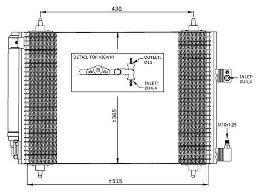 Condensator Radiator clima aer conditionat CITROEN