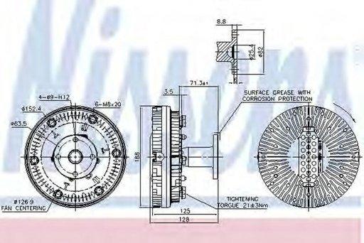 Cupla, ventilator radiator, MERCEDES-BENZ TOURO (O