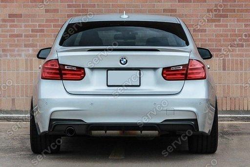 Difuzor prelungire spoiler bara spate M Pachet BMW F30 F31 Performance Mpack sport Aero