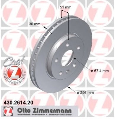 Disc Discuri Fata Opel Insignia 296mm Zimmerman