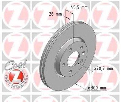 Disc Discuri Frana Fata Opel Astra J Zimmermann 300mm
