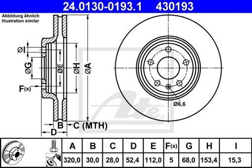 Disc Frana - ATE - 24.0130-0193.1