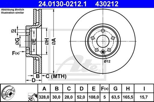Disc Frana - ATE - 24.0130-0212.1