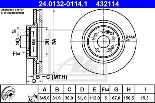 Disc Frana - ATE - 24.0132-0114.1