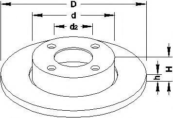 Disc frana AUDI 500 (43, C2), AUDI 500 (44, 44Q, C3), AUDI 100 Avant (43, C2) - TOPRAN 103 700